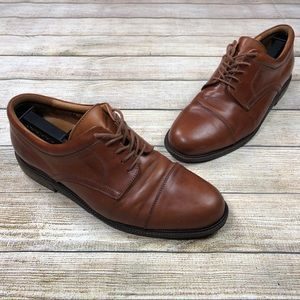 Johnston & Murphy 10.5 Brown Oxford Cap Toe Shoes